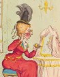 Sarah Archer, Lady Archer ('The finishing touch') by James Gillray, published by Hannah Humphrey. Hand-coloured etching, published 29 September 1791 (detail) © National Portrait Gallery, London