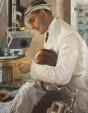 Conrad Ackner and Hazel Lavery, by Sir John Lavery, 1929 © BDA Dental Museum