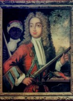 Portrait of a man with a firearm, attributed to J Cooper, location unknown