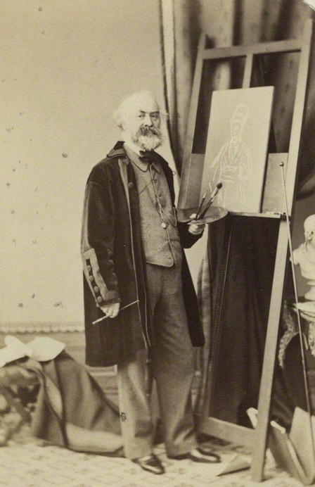 John Prescott Knight (1803-1881), portrait painter, by Maull & Polyblank. Albumen carte-de-visite, mid 1860s (detail) © National Portrait Gallery, London