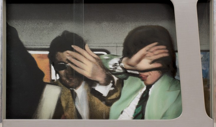 Richard Hamilton, Swingeing London &#039;67, 1967-8, relief silkscreen and oil on photo on board. Pallant House Gallery (Wilson Gift through The Art Fund, 2006)