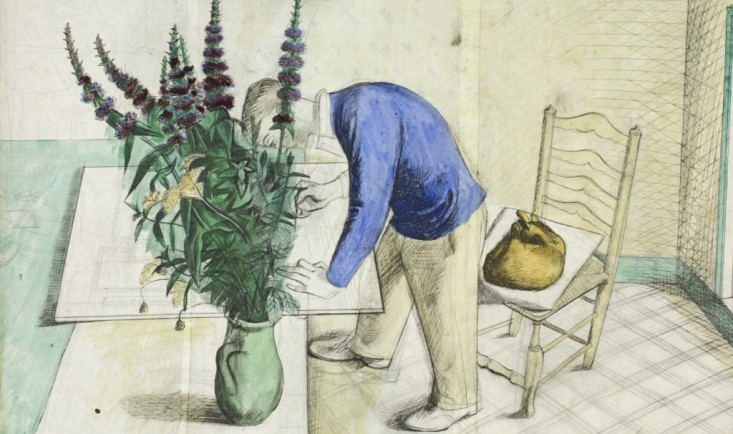 The Boy, Eric Ravilious in his Studio at Redcliffe Road by Edward Bawden, c. 1930 © The Estate of Edward Bawden