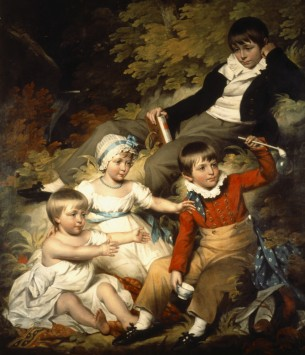 The Four Eldest Children of Sir Richard Croft, 6th Bt (1762–1818) by John James Halls (1776–1853), oil on canvas, c.1803. National Trust, Croft Castle, Herefordshire © National Trust Images
