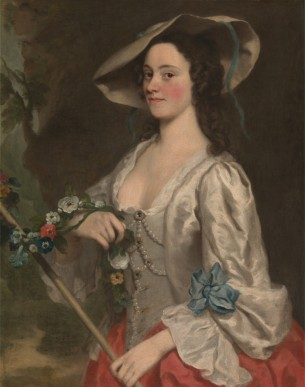 Portrait of a woman by George Knapton (1698-1778), oil on cavnas, 1735/45. © Yale Center for British Art, Paul Mellon Collection