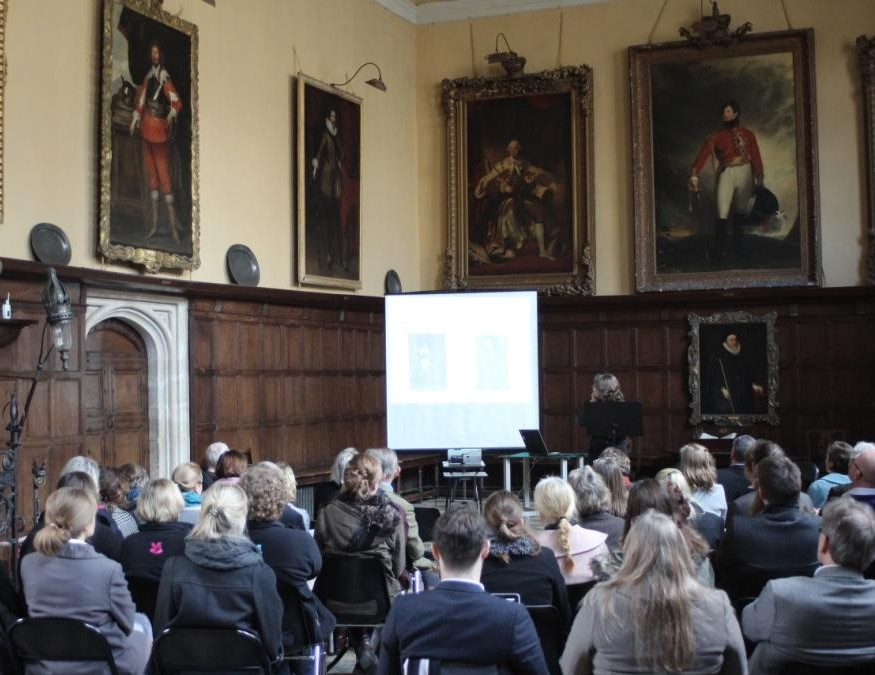 Understanding British Portraits seminar in the Great Hall at Knole, 17 March 2014