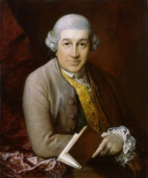 David Garrick (1717-79), actor, playwright and theatre manager by Thomas Gainsborough, oil on canvas, 1770. © National Portrait Gallery, London