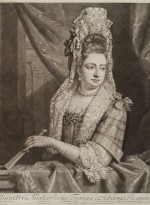 Queen Mary II by John Smith, published by Edward Cooper, after Jan van der Vaart, mezzotint, circa 1683-1729 © National Portrait Gallery, London