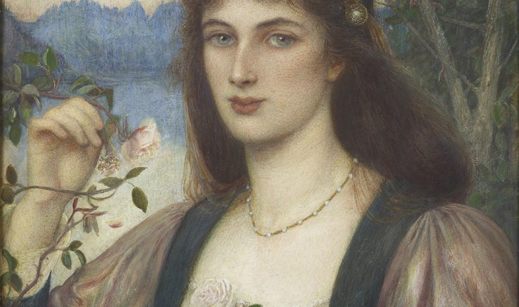 A Rose in Armida's Garden by Marie Spartali Stillman, watercolour, gouache and graphite on paper, 1894 © Private collection