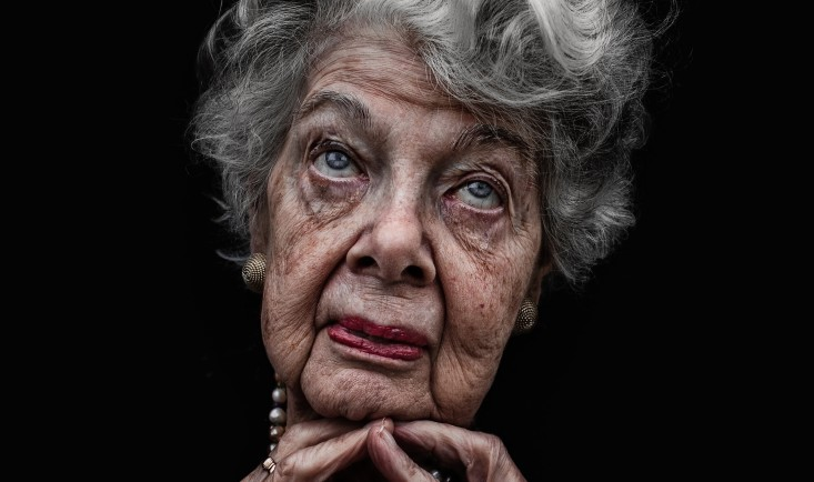 Lady B by Lee Jeffries, colour photograph, 2012 © Lee Jeffries