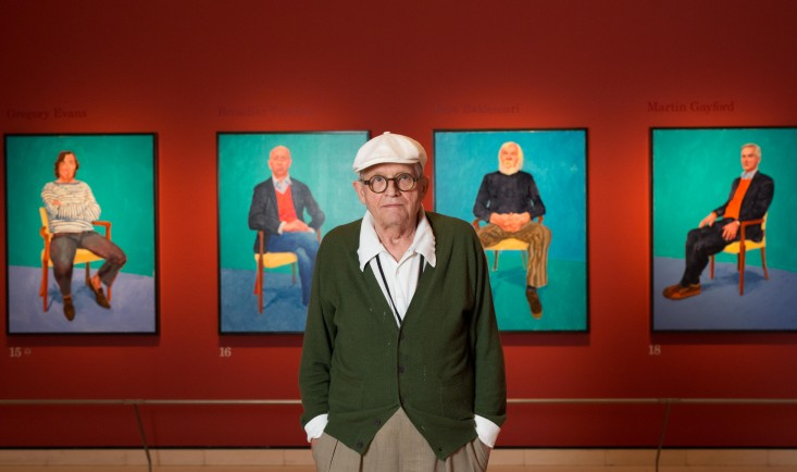 David Hockney at the Royal Academy of Arts © David Parry/ Royal Academy of Arts