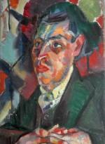 Portrait of Joseph Leftwich by Clare Winsten, c.1919, Ben Uri Gallery & Museum