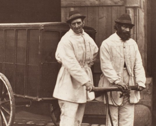 Two public disinfectors cart the clothes and belongings of the diseased, which were taken away to be cleaned. © London Metropolitan Archives