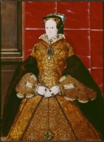 Portrait of Mary I, by Hans Eworth, 1554, painted shortly after Mary's coronation. Courtesy of the Society of Antiquaries of London