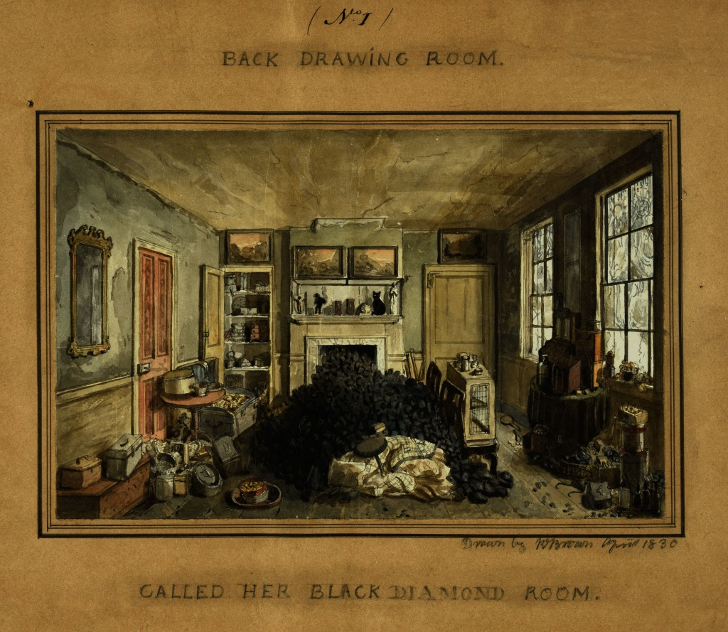 Fig. 2 'Mrs Morice's Back Drawing Room', 1830 (National Archives, Kew, PROB37-813).