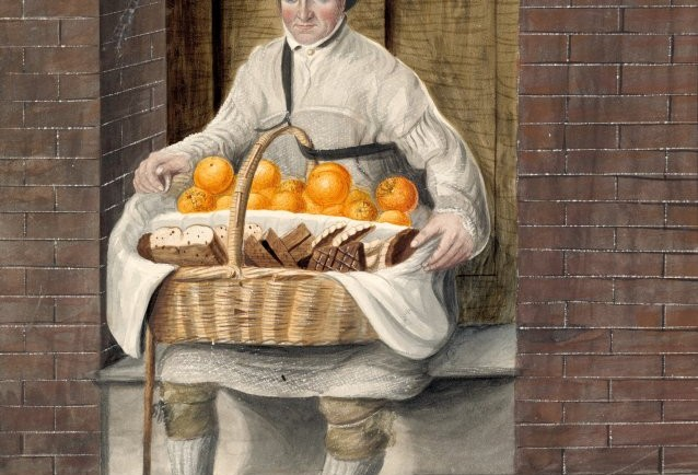 Sharp, orange man, Colchester, by John Dempsey, 1823. Collection: Tasmanian Museum and Art Gallery, presented by C. Docker, 1956