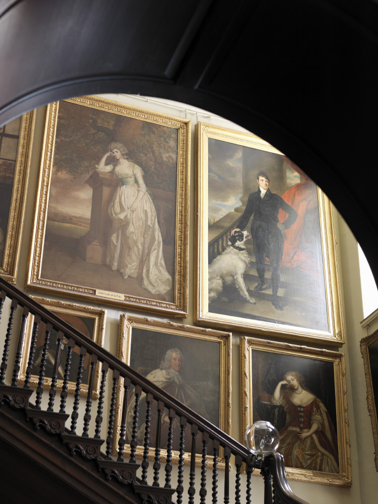 Portrait paintings on the Staircase at Antony, Cornwall © National Trust Images/Cristian Barnett