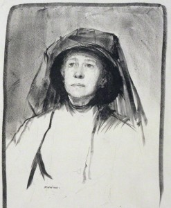 Isabella Augusta, Lady Gregory (1852-1932), playwright by Flora Lion. Lithograph, 1913 (detail) © National Portrait Gallery, London