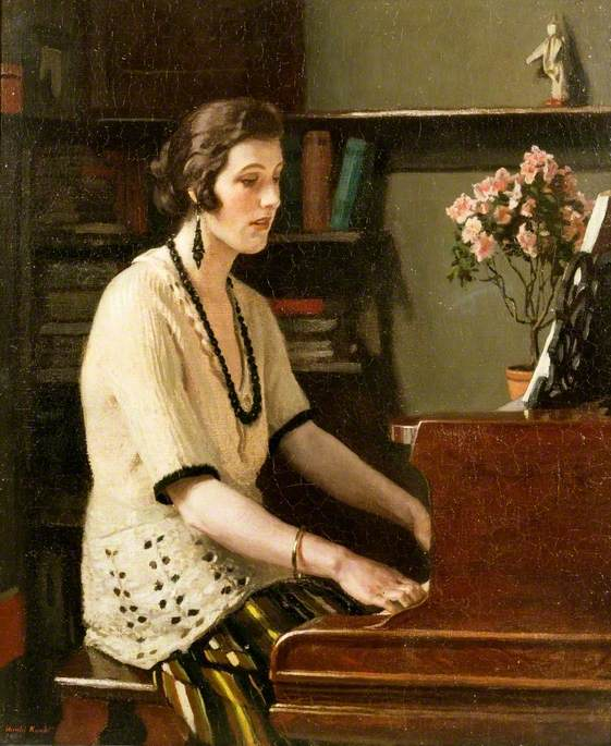 At the Piano by Harold Knight (1874-1961), c.1921 reproduced with permission of the estate of Dame Laura Knight, DBE, RA, 2012. All rights reserved © Tyne & Wear Archives & Museums
