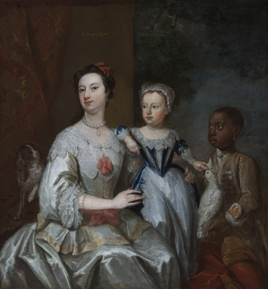 Lady Grace Carteret, Countess of Dysart (1713-1755) with a Child (? Lady Frances Tollemache [1738 - 1807]) and a Black Servant by Johann Eckhardt (d.1779), 1740, Ham House, Surrey © National Trust Images/John Hammond