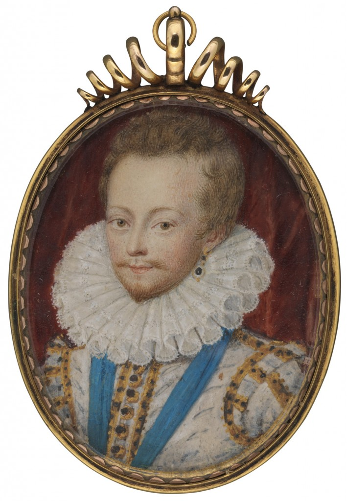 Robert Carr, Earl of Somerset (1587-1645), favourite of James I, by Nicholas Hilliard, watercolour on vellum, c.1611 © National Portrait Gallery, London