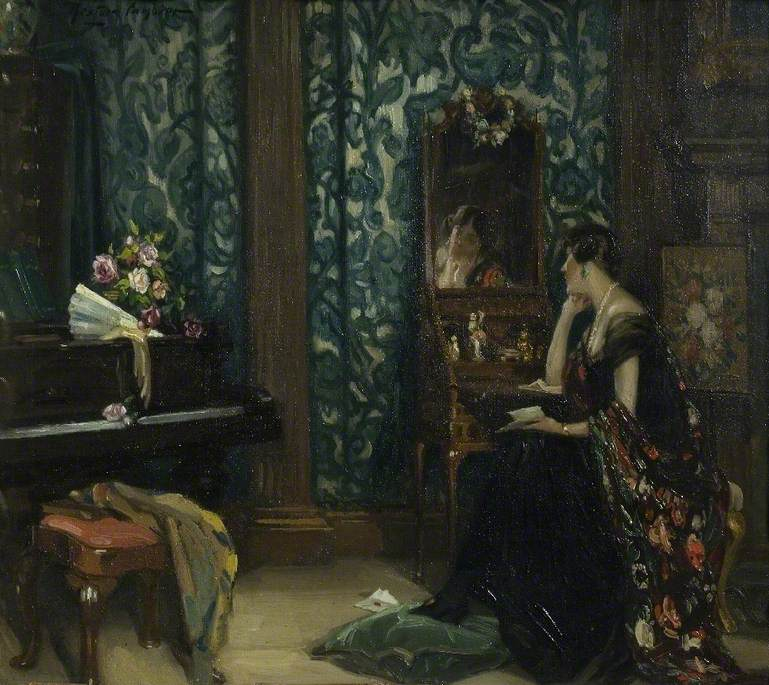 Lady Barber by Nestor Cambier (1879-1957), n.d., oil on canvas, 21.5 x 27.5 cm. © The Barber Institute of Fine Arts, University of Birmingham