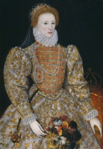 Queen Elizabeth I, also known as the 'Darnley portrait', by unknown Netherlandish artist, oil on panel, c.1575 © National Portrait Gallery, London