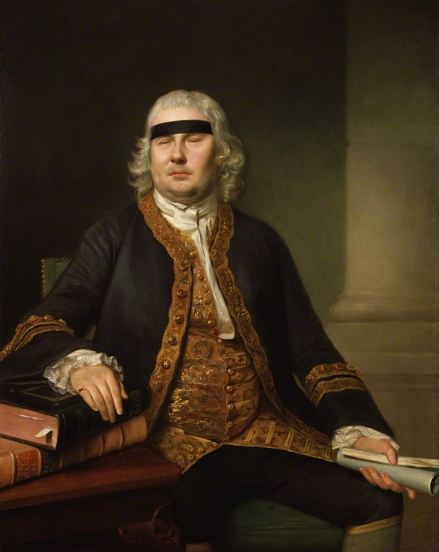 Sir John Fielding (1721-1780), magistrate and social reformer, by Nathaniel Hone, 1762 © National Portrait Gallery, London