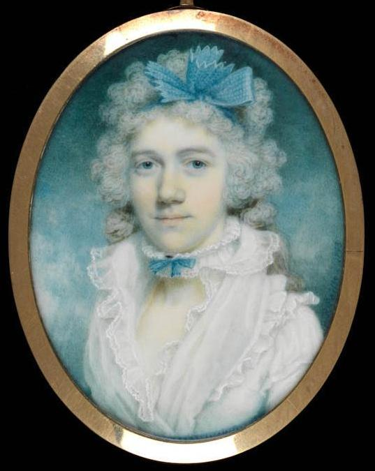 Susannah Wedgwood, mother of Charles Darwin, by Peter Paillou the younger, 1793 © The Fitzwilliam Museum