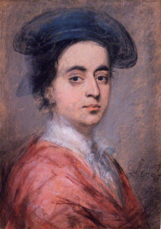 Self-portrait by Edward Gibson (1668-1701), chalk, 1696 © National Portrait Gallery, London
