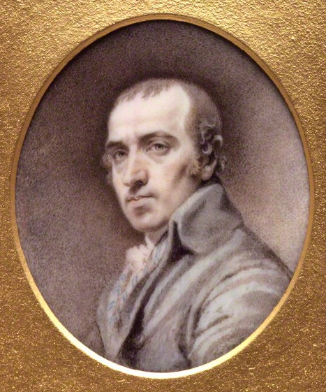 Self Portrait by James Gillray (1756-1815), watercolour on ivory, c.1800 © National Portrait Gallery, London