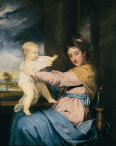 Caroline, Duchess of Marlborough and her baby daughter by Sir Joshua Reynolds © Reproduced by kind permission of His Grace, the Duke of Marlborough