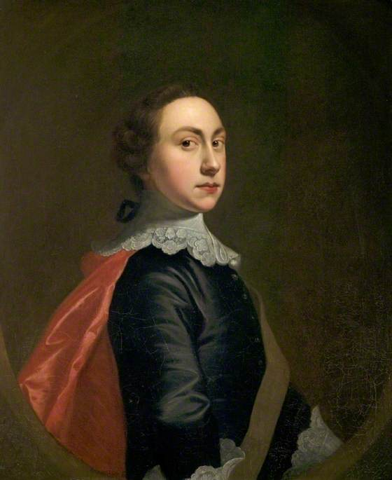 Self portrait in Van Dyck Costume aged about twenty by Joseph Wright, 1753-4 © Derby Museums and Art Gallery