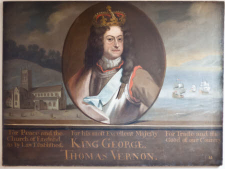 King George I by unknown artist, 1715, Hanbury Hall © National Trust Images/Richard Stern