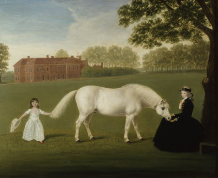Mary Curzon, Lady Stawell (1760-804) and daughter, Mary Legge (1780-1864), later wife of John, 2nd Lord Sherborne (1779 - 1862) by Dorofield Hardy (active 1882–1920). Sherborne Estate, Gloucestershire © National Trust Images/John Hammond