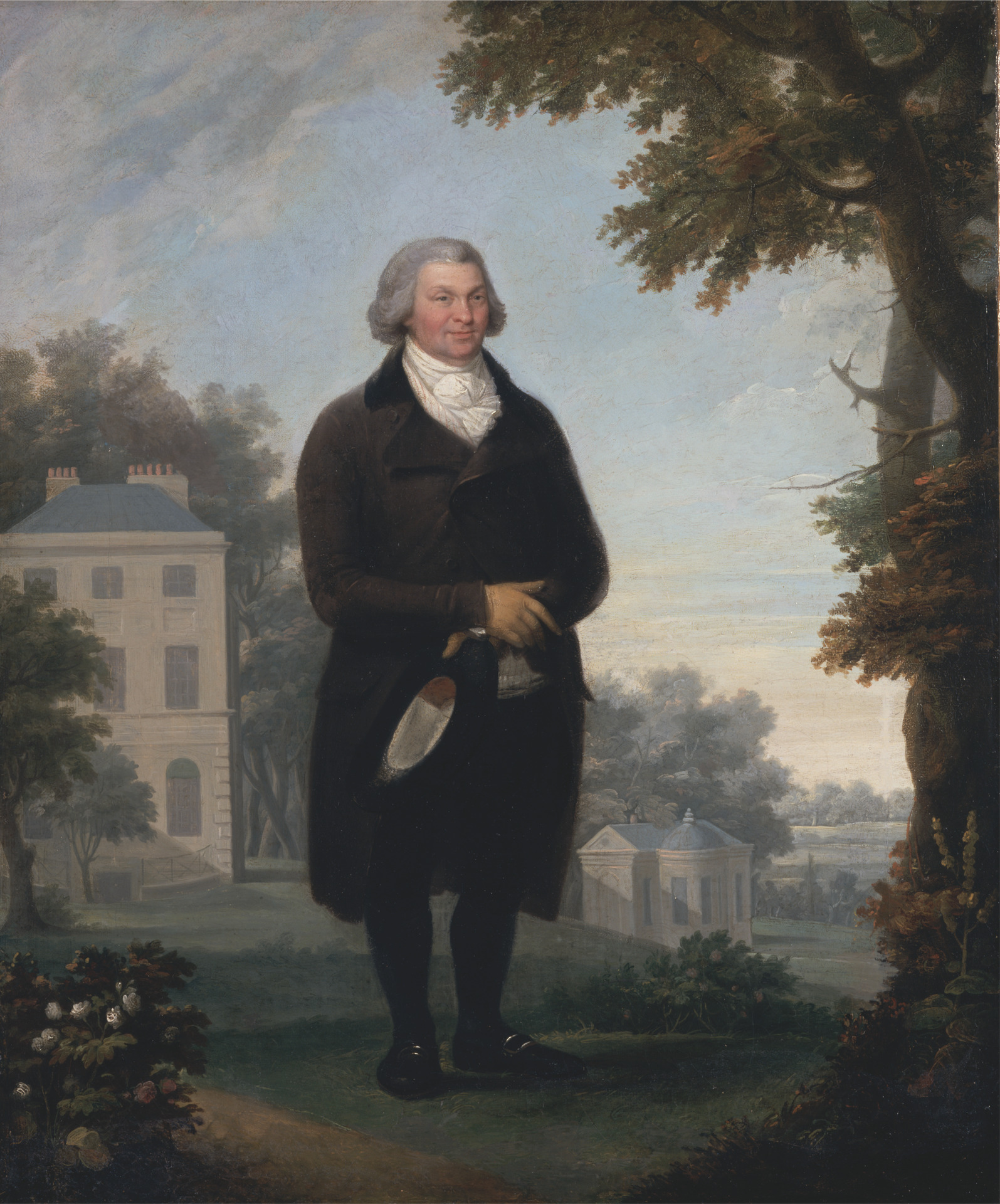 A Gentleman in the Grounds of his House by Samuel de Wilde (1748-1832), 1800/1810 © Yale Center for British Art, Paul Mellon Collection