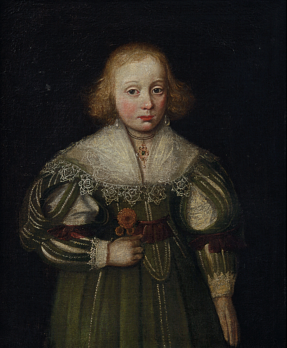 Girl in a green dress, English School, early 17th century © Mount Edgcumbe collection