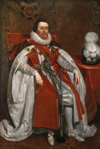 King James I of England and VI of Scotland by Daniel Mytens, 1621 © National Portrait Gallery, London