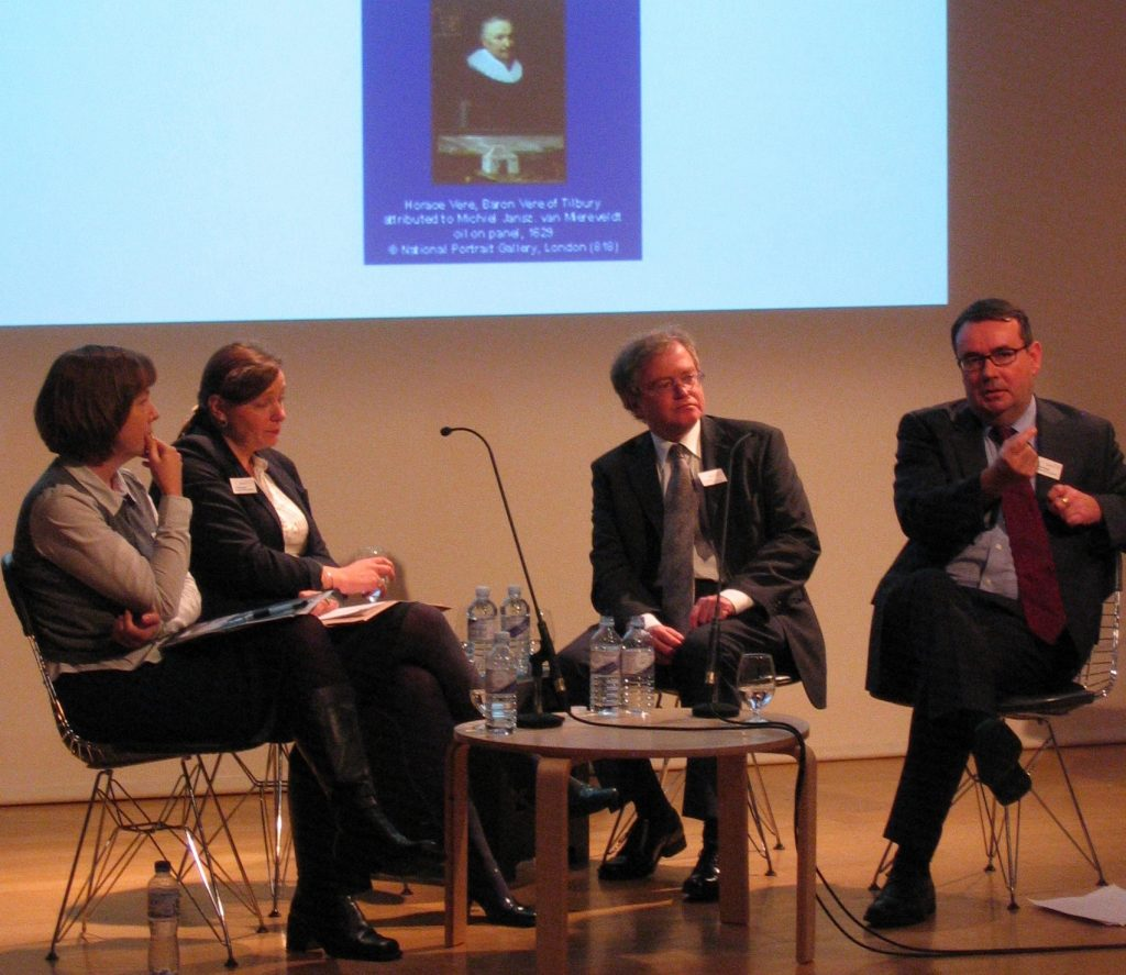 (l-r) Kate Retford, Tarnya Cooper, Viv Hendra and Peter Funnell at the Understanding British Portraits seminar 2008
