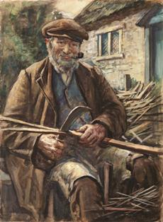 The Woodman by Francis Henry Newbery (1855-1946) © Bridport Museum, Dorset