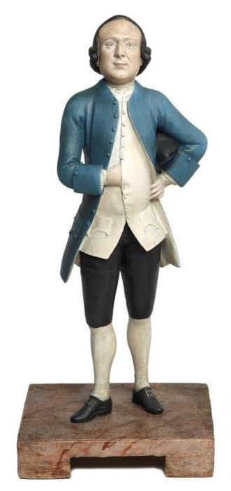 1. Thomas Todd by Chitqua, c.1770, clay statuette © Museum of London