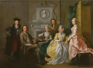 Jonathan Tyers and his family by Francis Hayman, 1740 © National Portrait Gallery, London
