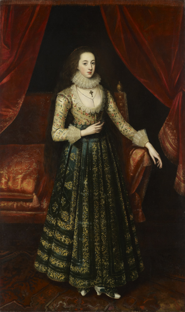 Vere Egerton, Mrs William Booth (m. 1619) attributed to Robert Peake the elder (c.1551-1619) c.1619, Dunham Massey, Cheshire © National Trust Images/Matthew Hollow