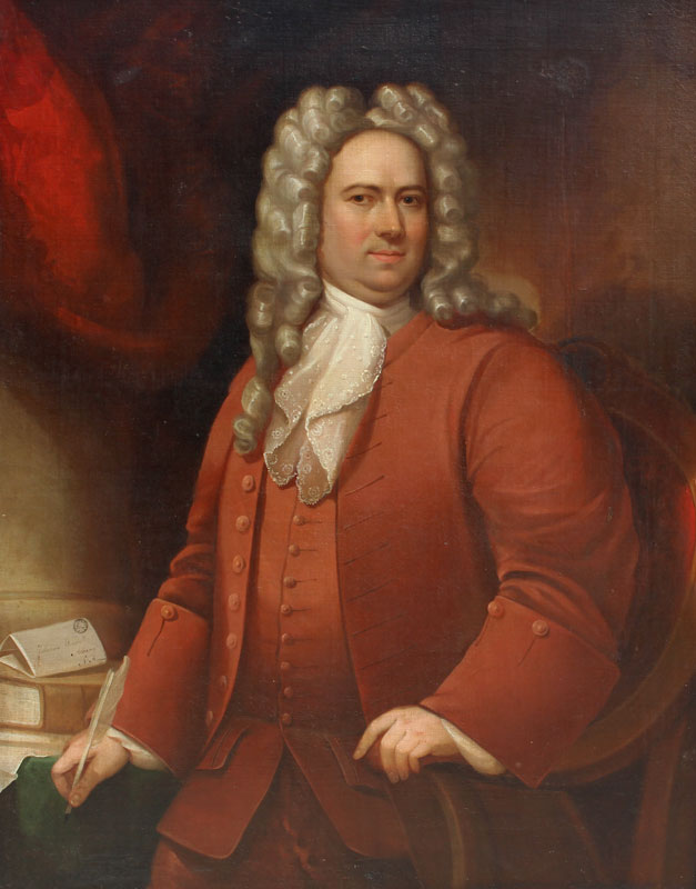 Portrait inscribed 'Johannes Wendell, Albany, N. America.' And the envelope on which this is inscribed is post marked 'Amsterdam 1719'. It has descended in the family of origin until recently. Oil on canvas, 45.5 x 37.38 in.