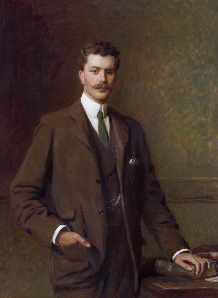 Walter FitzUryan Rhys, 7th Baron Dynevor of Dynevor (1873-1956) by William Edwards Miller (fl.1873 – after 1929), in the Dining Room at Newton House, Dinefwr, Carmarthenshire. © National Trust Images/John Hammond