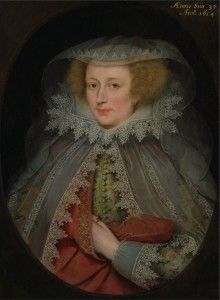 Catherine Killigrew, Lady Jermyn by Marcus Gheeraerts the Younger (1561-1635), oil on panel, 1614 © Yale Center for British Art, Paul Mellon Collection Click for larger image