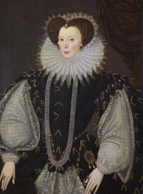 Elizabeth Sydenham, Lady Drake by George Gower, oil on panel, c.1585 © Plymouth City Council (Arts and Heritage)