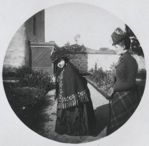 Queen Victoria with Princess Louise, Duchess of Fife, Abergeldie , 9 October 1890, by Alexandra, Princess of Wales, gelatin silver print. RCIN 2930577 Royal Collection Trust © HM Queen Elizabeth II