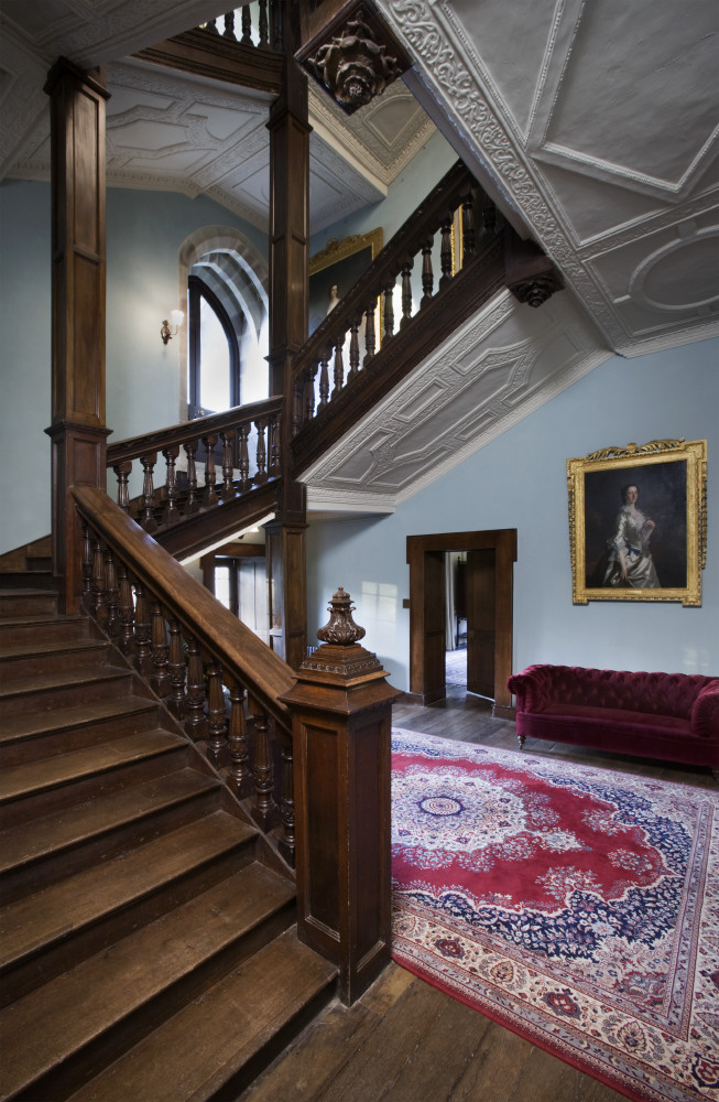 The Staircase in the Inner Hall at Newton House, Dinefwr, Carmarthenshire, Wales © National Trust Images/John Hammond