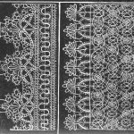 Bobbin lace pattern from Richard Shorleyker's 'Schole-House for the Needle', first published in London in 1623. This pattern is of the type depicted in the Shakespeare Birthplace Trust portrait. Click for larger image