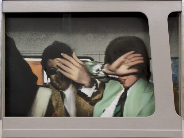 Richard Hamilton, Swingeing London '67, 1967-8, relief silkscreen and oil on photo on board. Pallant House Gallery (Wilson Gift through The Art Fund, 2006)